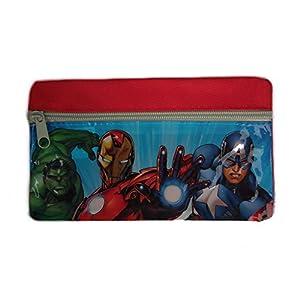 Compatible avec GUIZMAX Estuche Niño Avengers Disney Neceser Cremallera Gris