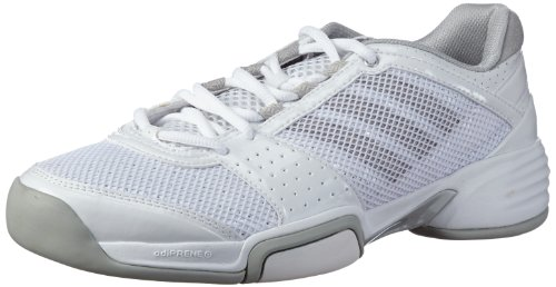 adidas Performance barricade team 3 W CPT Q33996 Damen Tennisschuhe Weiß (RUNNING WHITE FTW / METALLIC SILVER / ICE GREY)