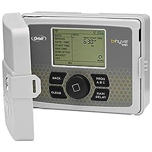 Orbit 94550 Programador WiFi 12 Estaciones con Tapa B-Hyve-Control Desde el teléfono Mediante app-12 Zonas de riego…