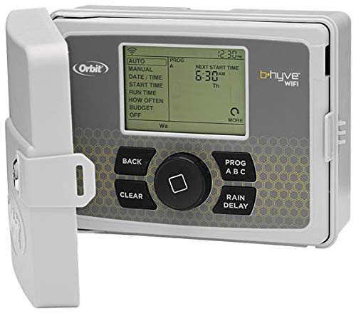 Orbit 94550 – b-hyve Smart Indoor/Outdoor 12-Station WiFi Sprinkler System Controller, Compatibile con Alexa