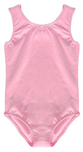 Dancina Mädchen Body Ärmelloser Ballettanzug mit Spandex 140/146 Rosa (Danskin Mädchen Gymnastik Trikot)