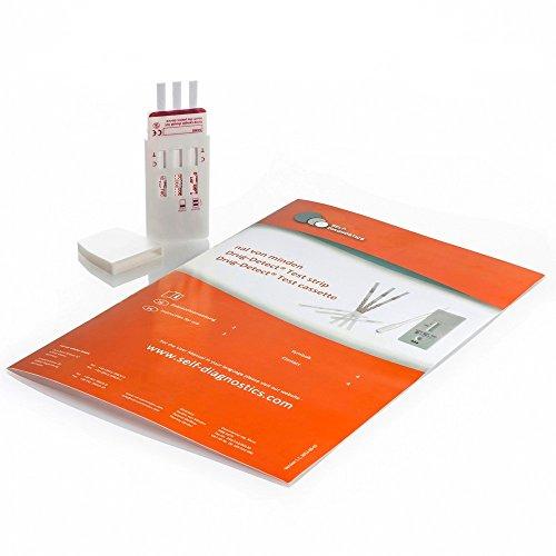 2 x Drogenschnelltest Multi Drogentest 3 (Amphetamin/Kokain/THC) - 2 Stück Testkarten - Drogenschnelltest Amphetamin