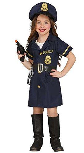 Guirca Polizei Kostüm für Mädchen Polizistin Kleid Polizeikostüm Gr. 98-146, Größe:98/104