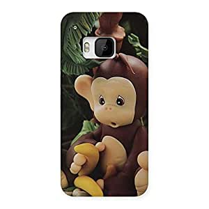 Toy Monkey Multicolor Back Case Cover for HTC One M9