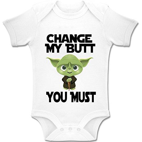 Inspired Yoda - Change My Butt, You Must' - Baby Bodys / Strampler 100% Baumwolle (3-6 Monate) ()
