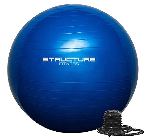 Structure Fitness 65CM Gym Ball Exercise Yoga Swiss Core Fitness - deal for  core strength training bf83d8836a72