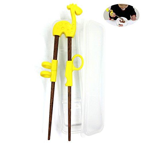 Dancepandas Kind Essstäbchen für Anfänger Kinder Chopsticks,Baby-Trainings- Stäbchen Holz Kinder Senioren Chopsticks Zum (braun)