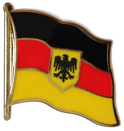 Flaggen-Pin / Anstecker Deutschland Dienstflagge vergoldet