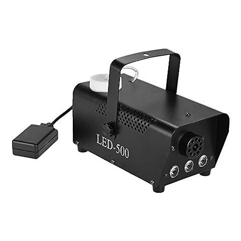 ammoon Fog Machine 400W drahtlose bunte Nebelmaschine-Nebel-Rauch-Maschine mit dem Springen ändern LED-Farben-Lichter (Rot, Blau, Grün) Fernsteuerungs für Partei-Livekonzert DJ-Stab KTV DJ (3 Lb Paket)