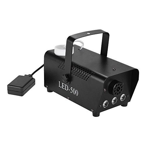 ammoon Fog Machine 400W drahtlose bunte Nebelmaschine-Nebel-Rauch-Maschine mit dem Springen ändern LED-Farben-Lichter (Rot, Blau, Grün) Fernsteuerungs für Partei-Livekonzert DJ-Stab KTV DJ (Machine Maker Nebel)
