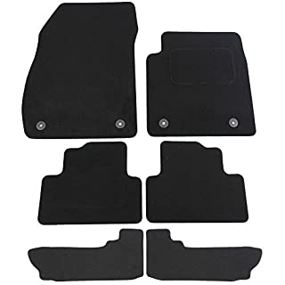 JVL Fully Tailored 6 Piece Car Mat Set with 4 Clips