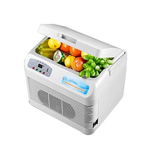 WJSWBX 12 / 19L Autokühlschrank, Dual-Core-Kühlhaus Mini-Kühlschrank mit konstanter Temperatur Kühlcontainer (Größe: 12L) - Dual-temperatur-wein-kühlschrank