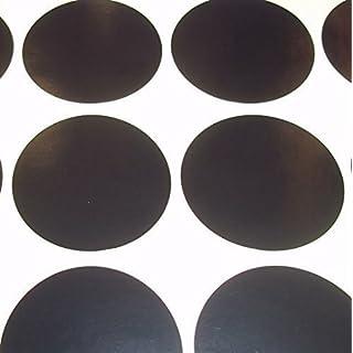 Audioprint Ltd. 100er Pack Rund Farbcode Blank Preis Sticker Etiketten - Schwarz, 38mm