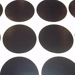 Audioprint Ltd.. Paquete 100 Redondo código de color lunares en Blanco Precio Pegatinas Etiquetas - Negro, 38mm