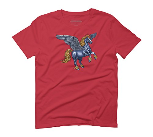 Pegasus Men's Graphic T-Shirt - Design By Humans Red