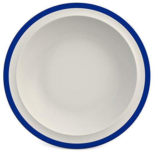 Ornamin Assiette Creuse Ø 22 cm Bord Bleu Mélamine (Modèle 505)