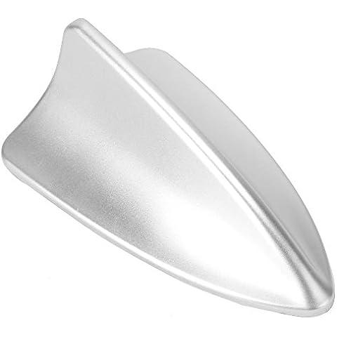 Aleta de Tiburón Maniquí Antena de Coches Decoración Color Plata