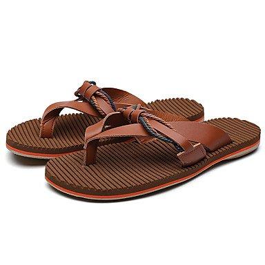 Chaussons & amp pour hommes, été clair Soles PU Casual Brown Sandales Noir Blanc sandales US7.5 / EU39 / UK6.5 / CN40