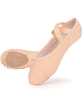 [Patrocinado]Skyrocket Zapatillas media punta de ballet suela partida de cuero Zapatos de ballet tallas 25 - 44