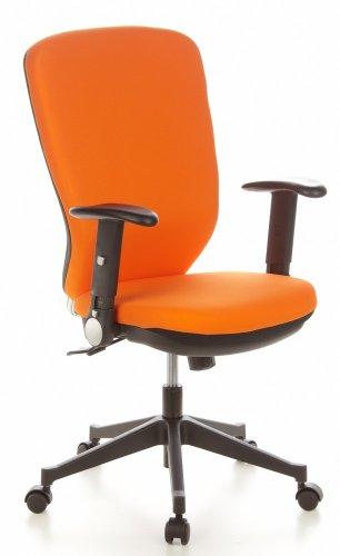 Buerostuhl24 653632 Bürostuhl / Drehstuhl TRAFFIC 30 Hochlehne Stoff orange