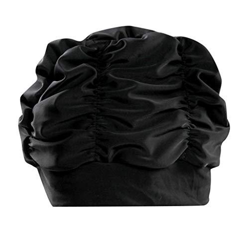 Badekappe Damen WQIANGHZI - Lange Haare Bademütze - Wasserdurchlässig Schnelltrocknend Badehaube - Weich Super-Stretch Schwimmkappe Schwimmkappe - Esund und Warm Swim Cap