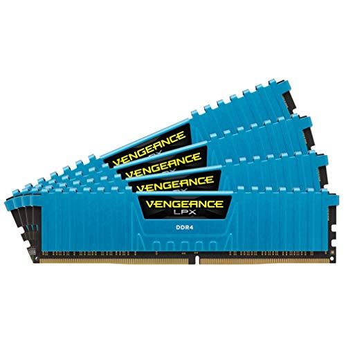 Corsair Vengeance LPX 16GB (4x4GB) DDR4 2133MHz C13 XMP 2.0 High Performance Desktop Arbeitsspeicher Kit, blau