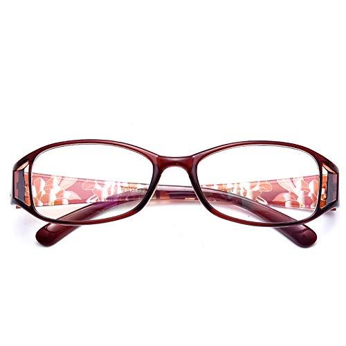 AYHMT Frauen Lesebrille X1, Federscharnier Mode Muster Hohl Rahmen, Leser Hohe QualitäT Ultraleichte Komfortable Brille Zum Lesen (Schrittweise Multifokal)