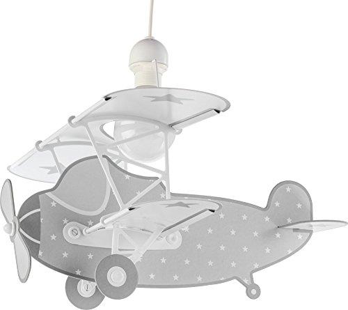 Dalber Stars Plane Lámpara Infantil, Gris