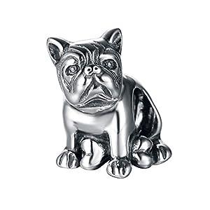925 Sterling Silber Charms Bulldogge passt für Pandora Armband Geschenk für Damen