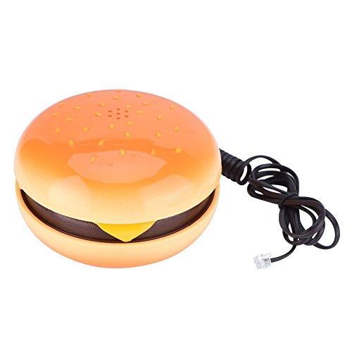 Neuheit Hamburger Cheeseburger Burger Telefon Nette Telefone Festnetz Schnurgebundenes Telefon Tischtelefon für Home Hotel Büro Dekoration Kinder Geschenk