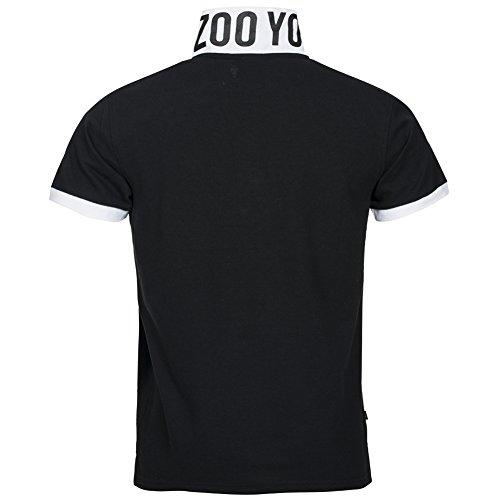 Zoo York Herren Polo-Shirt Stehkragen ZSK00155 Schwarz