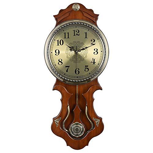 JinMi Relojes Antiguos Europeos Sala de Estar Casa Cuarzo Péndulo Reloj Dormitorio Simple Reloj Creativo Swing Moda Mute Colgante Colgante de la Mesa