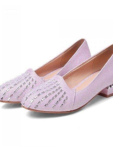ZQ Scarpe Donna - Mocassini - Formale / Casual - Decolleté - Basso - Lustrini / Finta pelle - Nero / Blu / Rosa / Bianco / Beige , pink-us7.5 / eu38 / uk5.5 / cn38 , pink-us7.5 / eu38 / uk5.5 / cn38 pink-us6 / eu36 / uk4 / cn36