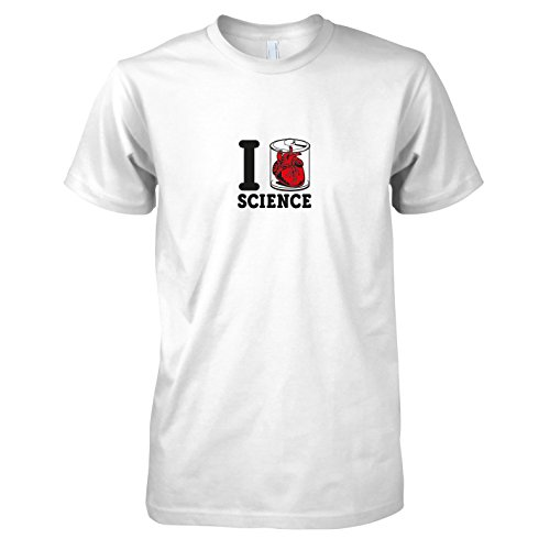 TEXLAB - Science Heart - Herren T-Shirt Weiß