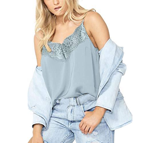 Yvelands Mode Weste Unterhemd ohne Arm T-Shirts für Damen Camis Feste Spitze Patchwork Tank ()