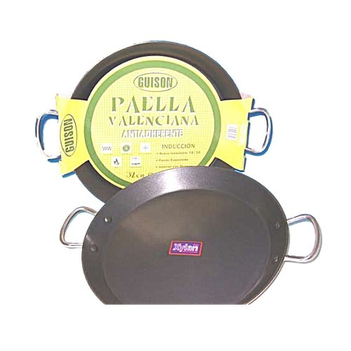 Garcima 36cm Non-Stick Stainless Steel Paella Pan for Induction & ceramic hobs, Gas and AGA's