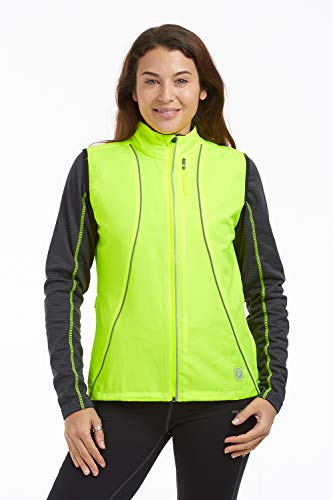 Time To Run - Gilet da Corsa Antivento Donna 38 Lime Verde