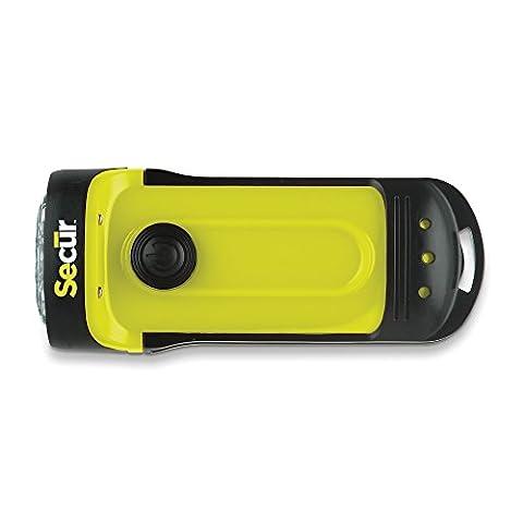 Secur wasserfeste Taschenlampe mit 3 LEDs und Handkurbel, Hochleistungs-LED mit