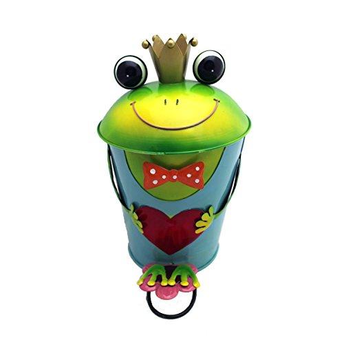 Gall&Zick Papierkorb Mülleimer Frosch Froschkönig Herz Müllbehälter Abfalleimer Treteimer mit Inneneimer