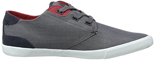 Boxfresh Stern, Herren Low-Top Sneaker Grau (Grey/Chilli Red)