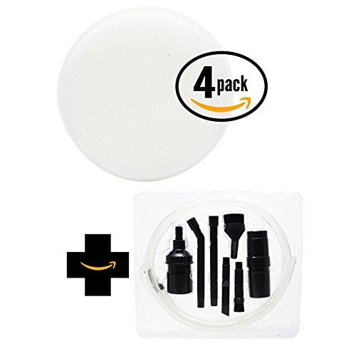 4 Ampoules de rechange Hoover Linx sans fil Aspirateur à main bh50015 Aspirateur Filtre éponge en mousse avec 7 Micro Kit de fixation - Aspirateur Compatible Hoover 410044001, Linx Filtre en mousse