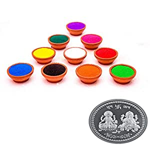 T-Lite Diwali Rangoli Colour Powder (300 Gm Each Packet) (Pack of 6) (Not Harmful Color in Your Hand)