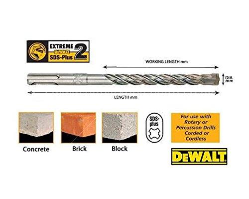 Beton, Mauerwerk, Natur- und Kunststein 12x460x400 mm, f/ür den Einsatz in armiertem DT8937-QZ Dewalt SPS-Plus Hammerbohrer EXTREME Full Carbide