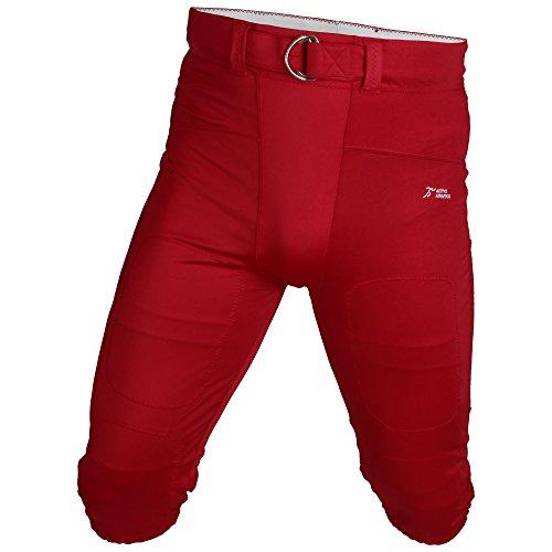 Active Athletics American Football Hose, Gamepants No Fly (mit Breitem Gürtel) - Rot 2XL