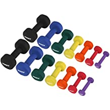 POWRX Neopren Hanteln inkl. Workout Gewichte für Gymnastik Kurzhanteln 0,5 kg - 5 kg oder Set komplett | versch. Farben