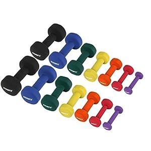 POWRX Neopren Hanteln inkl. Workout Gewichte für Gymnastik Kurzhanteln 0,5 kg – 5 kg oder Set komplett | versch. Farben