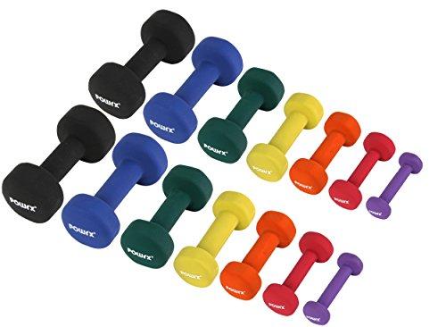 Neopren Hanteln Gewichte für Gymnastik Kurzhanteln 0,5 kg - 5 kg oder Set komplett | versch. Farben