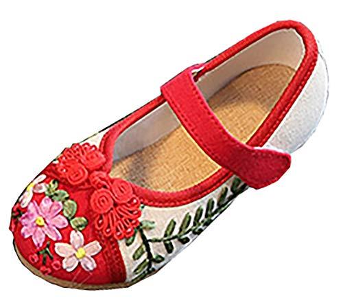 SK Studio Mädchen Mary Jane Schuhe Chinesisch Tuch Schuhe Ballerinas Breathable Walking Ethnischen ()