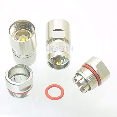 Gimax Steckverbinder PL259 UHF männlich 1,27 cm für Wellkupfer, Standard Andrew Heliax