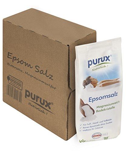 Purux Bittersalz, Magnesiumsulfat, 2,5 kg MgSO4 Lebensmittelqualität, Food Grade epsom